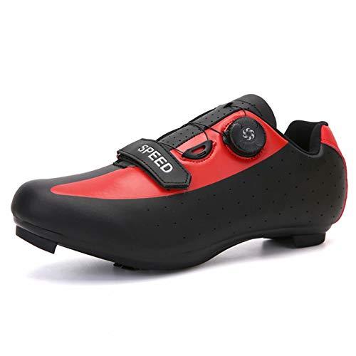 Zapatillas de Ciclismo para Hombres y Mujeres - Zapatillas de Ciclismo de Carretera Zapatillas de Spinning con Cala Compatible Zapatilla Peloton con SPD y Delta