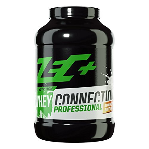 ZEC+ Whey Connection Professional – 2500 g, Proteinpulver aus Whey Konzentrat & Whey Protein, Protein Shake mit Eiweißpulver & Aminosäuren (BCAAs), Geschmack Spaghetti Eis