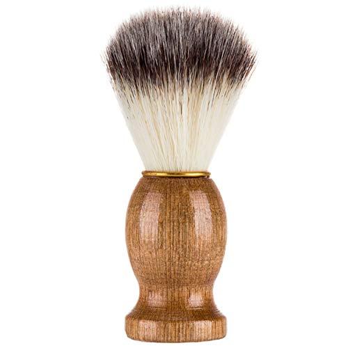 Tree-on-Life Effektiv Dachs Haar Rasiermesser Rasierpinsel Salon Schönheitsreinigungsgerät mit Holzgriff für Männer Holzfarbe