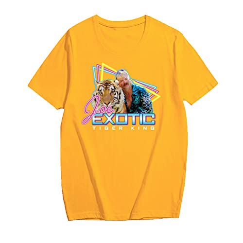 Tiger King Joe Exotic Camiseta Camiseta de manga corta de los hombres de moda del diseño Slim Fit de manga corta suelta unisex Hombres y Mujeres Mujeres Ligera manga corta camiseta de algodón Todos in