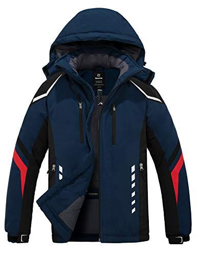 Wantdo Men's Windproof Ski Jacket Mountaineering Snow Coats Insulated Winter Parka Navy Small