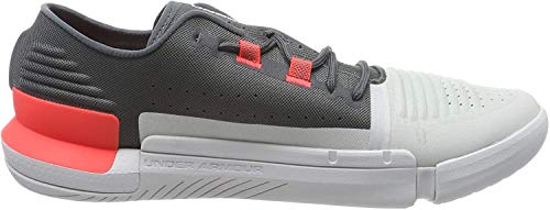 Under Armour UA TriBase Reign, Zapatillas Deportivas para Interior para Hombre, Gris (Pitch Gray/Halo Gray/Beta Red (107) 107), 44 EU
