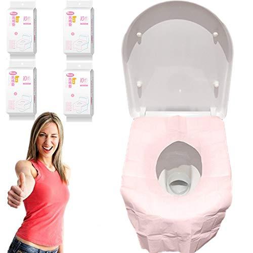 Fundas de asiento de inodoro desechables de 40 piezas, extra grande, suave, impermeable, para niños, mujeres, adultos Profect en baño público,embalaje independiente, fundas de asiento de inodo