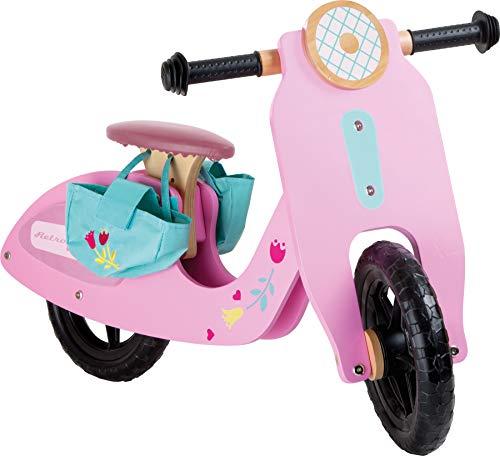 Small Foot 10109 Vélo de Course Rosa Flitzer en Bois, avec pneus en Caoutchouc, Charge Max. 50 kg, de 3 Ans Draisienne Bolide Rose, 79 x 41 x 51 cm