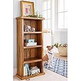 ANGEL FURNITURE Sheesham Wood Bookshelf (Small, Honey Finish)