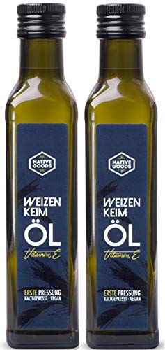 Weizenkeimöl - 1. Kaltpressung, 100% natur, reich an Vitamin E - native goods - 500ml [2x250ml]
