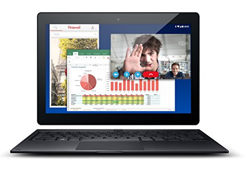 Odys Evolution 12 - 2in1 X610119 11,6 Zoll (29,5 cm) Convertible Tablet-PC (Quad Core Processor Intel Bay Trail-T Z3735G, 1,83 GHz, 1 GB DDR III RAM, 16 GB Flash HDD, Android 5.0, HD IPS Farbbildschirm (1366 x 768), BT 4.0, inkl. Tastatur Kingsoft Office) schwarz