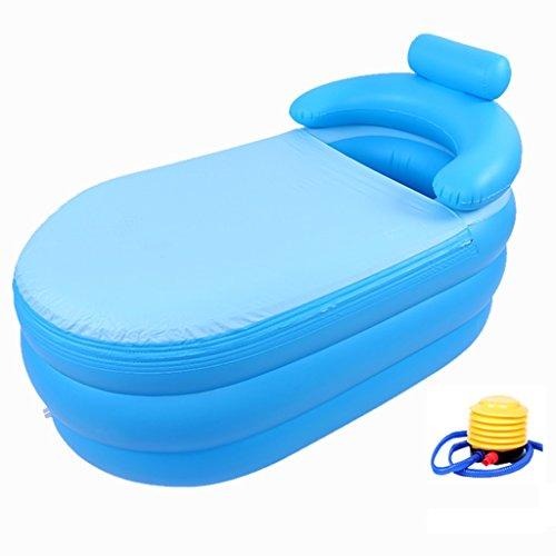Baignoire Gonflable,Pliantes Baignoires PVC pour Adultes,Dimensions Bleu 160cm*82cm*75cm