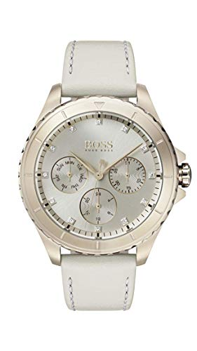 Hugo Boss Damen Multi Zifferblatt Quarz Uhr mit Leder Armband 1502447