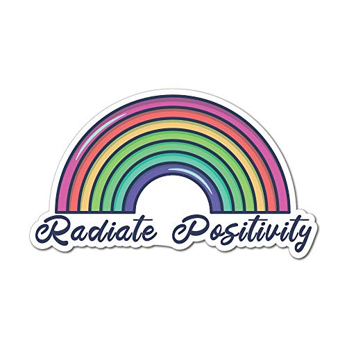 Radiate Positive Energy Sticker Decal Funny Hype Popular Car Silly Laptop Cool
