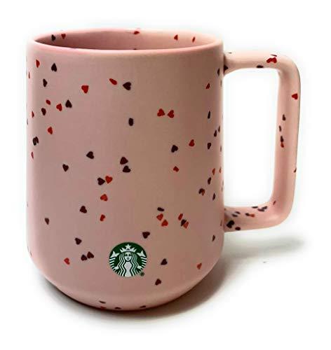2020 Starbucks Valentinstags-Herz-Konfetti Keramiktasse, ca. 400 ml, Rosa