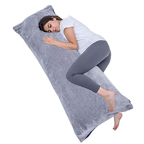 1 MIDDLE ONE Full Size Body Pillow, Large Bed Sleeping...