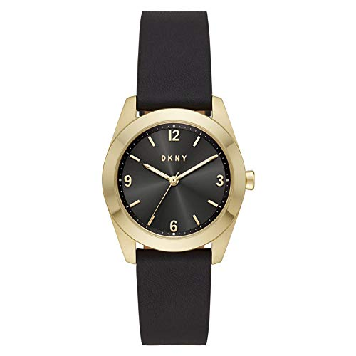 DKNY Damen Quartz Uhr mit Leder Armband NY2876