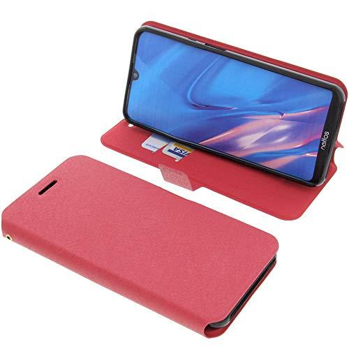 foto-kontor Tasche für TP-Link Neffos C9 Max Book Style rot Schutz Hülle Buch