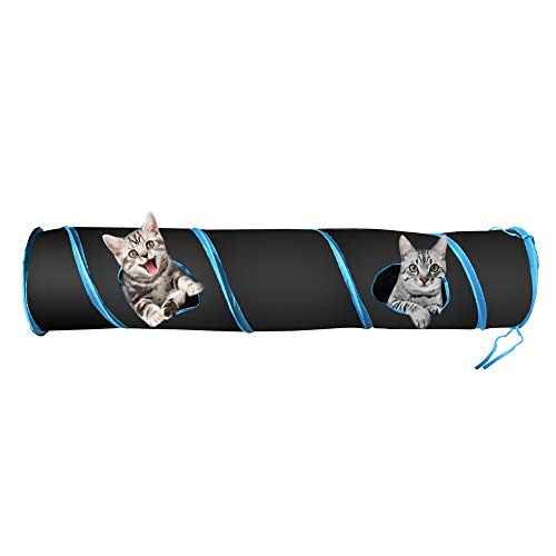PetLike Cat Tunnel Collapsible Pet Tube Interactive Play Toy with Ball for Indoor and Outdoor Cats, Rabbits, Puppies