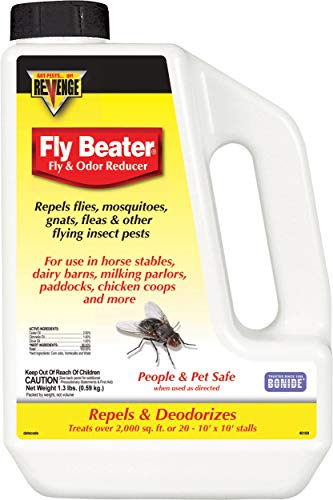 Bonide (BND46169) - Revenge Fly Beater Fly and Odor Reducer, Fly Repellent Granules (1.3 lb.)