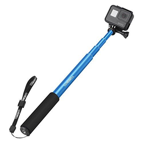 Bastone Selfie Luxebell Monopiede Telescopico Allungabile per GoPro Hero 5 Session 4 3+ 3 2 1 Sony Action Camera SJ7000/SJ6000/SJ5000/SJ4000/DBPOWER/Xiaomi Yi (Blu)