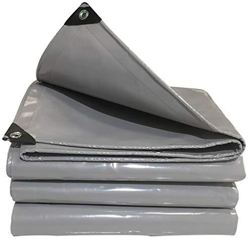 YXJBD dekzeil voor camping, tarp, dik, waterdicht, zonnecrème, isolatie, lampenkap van PVC 19.8x19.8ft/6x6m grijs.