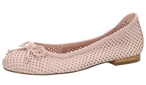CAPRICE 22101-22 Damen KlassischeBallerinas,Flats,Sommerschuh,elegant,Schleife,Freizeit,(509) Rose NUBUC,37 EU