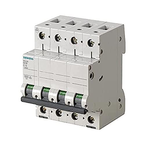Siemens 5sl6 - Automático magnetotérmico 400v 6ka 4 polos c 50a