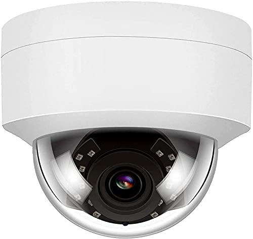 Anpviz 5MP PoE CCTV IP Dome Outdoor Kamera mit Mikrofon, IP Überwachungskamera aussen, wetterfest IP66 Innen kompatibel, 2,8mm Weitwinkel Objektiv, Bewegungserkennung
