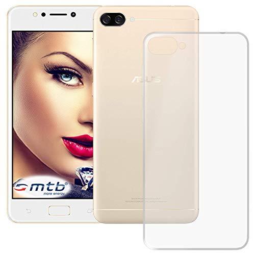 mtb more energy® Schutz-Hülle Clear und Slim für Asus Zenfone 4 Max (ZC520KL, 5.2'') - transparent - flexibel - TPU Silikon Hülle Cover Tasche