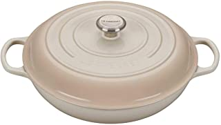 Le Creuset Signature Meringue Enameled Cast Iron 5 Quart Braiser