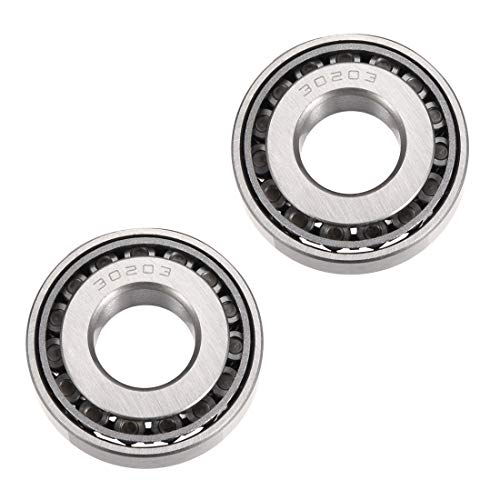 uxcell 30203 Tapered Roller Bearing Cone and Cup Set, 17mm Bore 40mm OD 12mm Thickness 2pcs