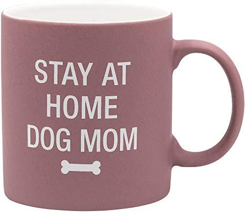 Stay At Home Dog Mom on Pink 20 oz. Ceramic Coffee Mug