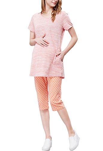 Élégant / Grande Taille / Qualité Tissus Robe de maternité (Rose)
