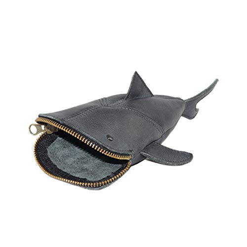 Hide & Drink, Leather Pouch Pencil Bag, Coin Purse, Scissors Case, Shark Cable Holder, Phone Case,...