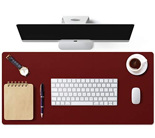 Hogar Office-Alfombrilla de escritorio de doble cara, gran alfombrilla de escritorio para ordenadores, antideslizante, multifuncional de piel sintética, accesorios de oficina en casa para escritorio