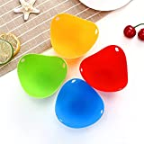4Pcs/lot Silicone Egg Poacher Poaching Pods Pan Mould Egg Mold Bowl Rings Cooker Boiler Kitchen Cooking Tool Accessories Gadget (Color : 4pcs)