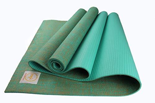 Maji Sports Jute Yoga Mat, Turquoise, 24 x 72 x 5mm