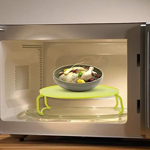 Multifunktionales Tablettregal, umweltfreundliches Dampfregal, Dampfkorb Kunststoff für Mikrowellen-Schnellkochtopf Instant-Topf für Dosenluftfritteuse(green)