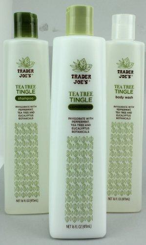 in budget affordable Trader Joe's Tea Tree Tingle Shampoo, Conditioner, Shower Set
