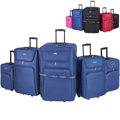 Vojagor Set di trolley da 5 pezzi colore azzurro