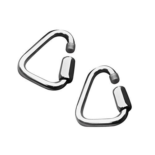 Mousqueton Porte-clés Anneau Accessoire Quotidien Forme de Triangle 4mm