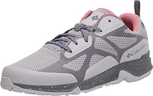 Columbia Women's Vitesse Outdry Performance Shoes, Waterproof & Breathable Hiking, Grey Ice/Canyon Rose, 6.5 Regular US