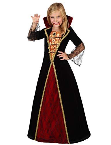 Atosa - Costume da Vampiressa Bambina, M, 5-6 Anni