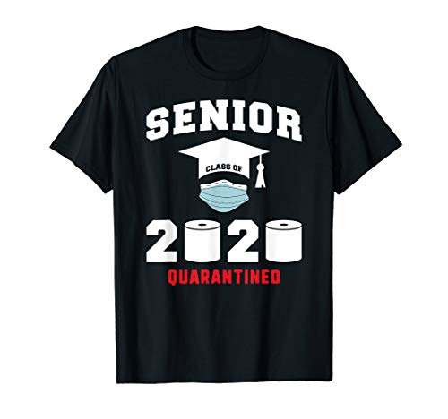 Senior Class of 2020 Quarantined Mask Graduation Gift T-Shirt