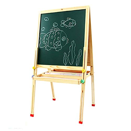 SUNTAOWAN Painting Table Sketchpad Kids Easel Magnetic Flip Stand Can Can Lift Writing Graffiti Board Baby Double Sided Small Chalkboard