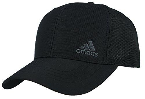 (アディダス)adidas メンズ 吸湿 速乾 ロゴ刺繍 ハーフ メッシュ INTER ZERO スポーツ キャップ 100-711-401 (01 ブラック)