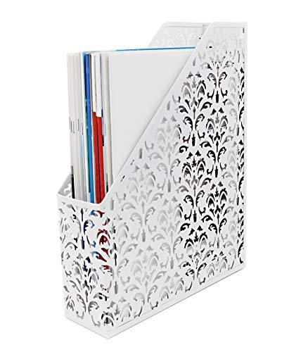 Robuster Stehsammler / Schreibtisch-Organizer für Papiere, Bücher weiß