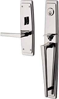 Baldwin 85397.RFD Palm Springs Right Handed Dummy Full Plate Handleset with L024, Lifetime Polished Nickel