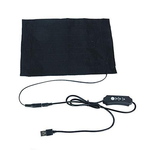 Pointsee Heizkissen Elektrisch, Beheizbare Weste Wärmekissen Elektrisch Heizdecke Leichte Elektrische USB-Heizkissen Zubehör für Outdoor Indoor Camping