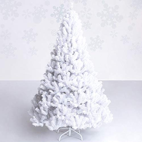 Goplus White Christmas Tree with Solid Metal Legs Perfect for Holiday Indoor and Outdoor Decoration...