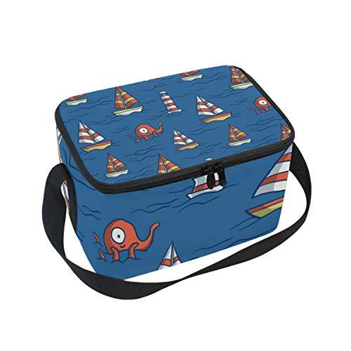 Alinlo - Bolsa de almuerzo con cremallera aislada para acuario o barco,...