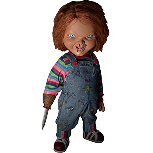 Mezco Toys Jeu d'enfant 2 - Poupée parlante Designer Series Menacing Chucky 38 cm