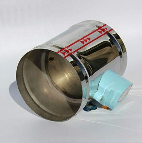 HUYANJUN HYJ-KONGTIAO, Amortiguador de Aire motorizado de Acero Inoxidable de 150 mm, Tipo Apretado de Aire con Amortiguador de Aire de 24 VCA, 6' Válvula de Tubo de ventilación